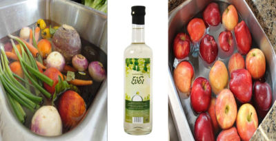 Μάθετε πως να Χρησιμοποιήσετε το Λευκό Ξύδι για να Αφαιρέσετε τα Φυτοφάρμακα από τα Φρούτα και τα Λαχανικά σας