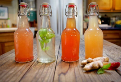 Φτιάξτε Κεφίρ Νερού με Φρούτα και Τζίντζερ