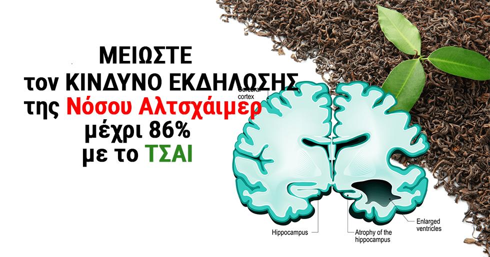 Το Τσάι Μειώνει τον Κίνδυνο Εκδήλωσης της Νόσου Alzheimer μέχρι 86% Σύμφωνα με τους Επιστήμονες.