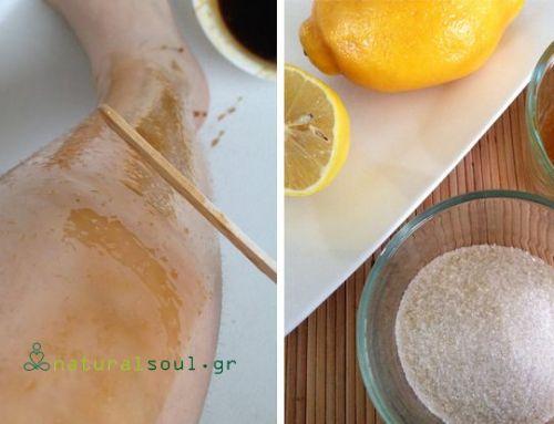 Σπιτική Χαλάουα με Λεμόνι, Μέλι, Ζάχαρη για Αποτρίχωση μέσα σε 30 Λεπτά!